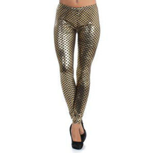 Fashion 123 Metallic Print Waistband Leggings